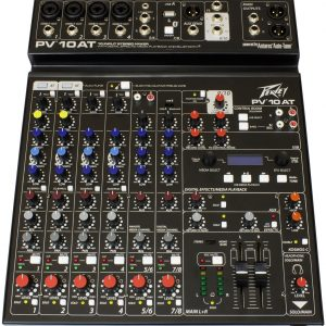Peavey PV10 AT 10 Channel Mixer with Auto-Tune and Bluetooth