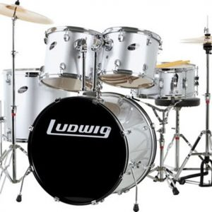 Ludwig Accent Drive LC1755 5 Piece Drum Kit Silver