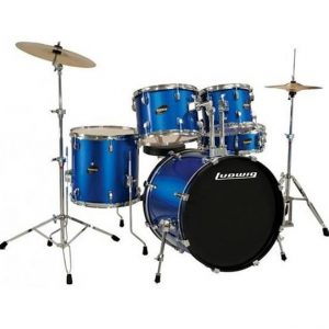 Ludwig Accent Drive LC1759 5 Piece Drum Kit Deep Blue